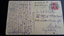 HELVETIA 1913 SWITZERLAND POSTAGE REDIRECTED POSTCARD