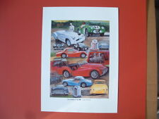 Triumph TR2 TR3 TR3A Jabbeke Triumph TR British sports car ltd ed print