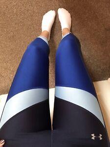 Womens Under Armour Gym Yoga Running Sport Leggings Uk 8-10