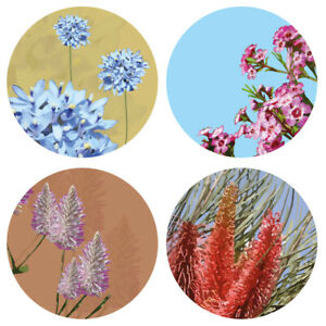 Set of 4 Coasters- Australian Native Flowers -LAST ONE LEFT