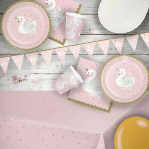 Stylish Swan Party Tableware, Decorations & Balloons