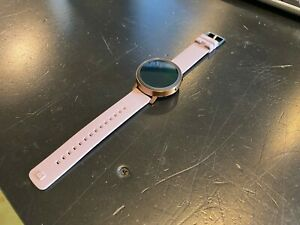 Misfit Vapor 44mm WearOS Smartwatch Copper Tone with Lavender Silicone Band