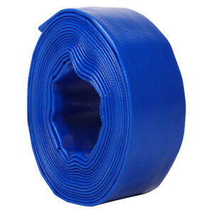 10M-50M PVC LAY FLAT HOSE WATER DISCHARGE DELIVERY PUMP PIPE IRRIGATION LAYFLAT