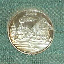 ONE TROY OUNCE .999 FINE SILVER 2003 CHRISTMAS ROUND