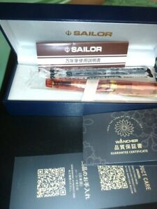 "Sailor Professional Gear 21K M Nib Demonstrator Fountain Pen in ""Hawaiian Ripe"""