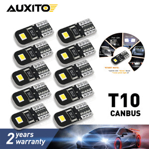 10PCS T10 W5W CANBUS SMD LED Wedge Light White Plate License 168 194 2825 Bulbs