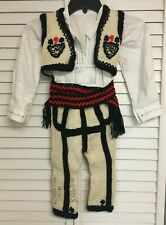 Vintage New Old Stock Kosovo Original Boys Traditional Outfit Costume Florentina