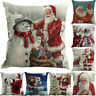 Christmas Printing Throw Pillow Case Cushion Cover Sofa Home Room Decoration Hot