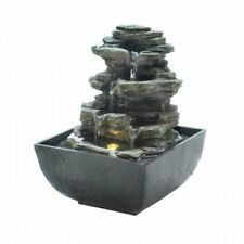 Cascading Fountains Tiered Rock Formation Tabletop Fountain