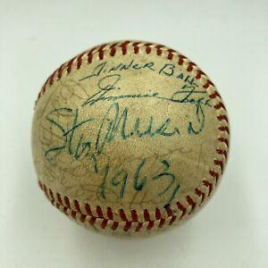 Jimmie Foxx HOF Legends 1963 All Star Game Dinner Multi Signed Baseball PSA DNA