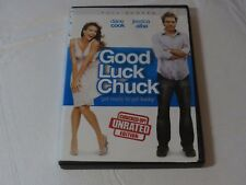 Good Luck Chuck DVD 2008 Unrated Full Screen Comedy Rated R Dane Cook Jessica Al