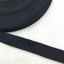 NEW DIY 10 Yards 3/8 inch (10mm)Width Length Black Strap Nylon Webbing Strapping