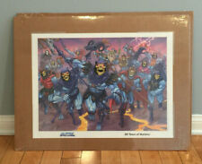 2 Master Of The Universe Vintage He-Man and Skeletor 20 Years Poster Lithograph