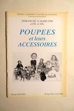 catalogue vente enchères Chartres POUPEES et ACCESSOIRES 03/1990 DOLLS