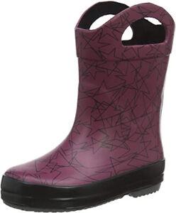 Clarks TARRI STAR Girls Boys Purple Waterproof Wellington Boots 4 - 7 G Fit