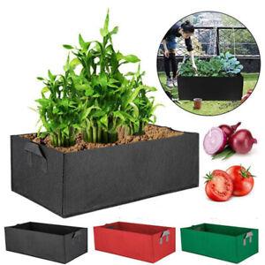 Garden Grow Bag Flower Vegetable Planter Pots Box Rectangular Felt Planting Bags