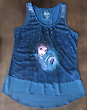 Disney Store Beauty And The Beast Art Of Belle Sequined Tank Top Womens Xl Shirt