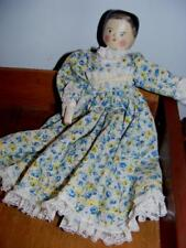 """Antique 11"""" DOLL Penny Grodnertal Peg Leg Wooden Articulated jointed Dressed"""
