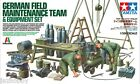 Tamiya 37023 1/35 Scale Model WWII German Field Maintenance Team w/Equipment Set