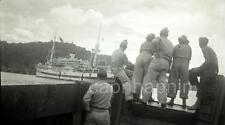 Vintage WWII Negative Photo Service Men Women Watch Hospital Ship Medical