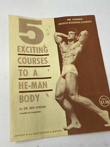 Vintage Joe Weider Bodybuilding Muscle Building Courses Booklet Trainer Of Champ