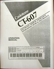 Owner's User's Operating Manual for Casio Casiotone CT-607 Electronic Keyboard