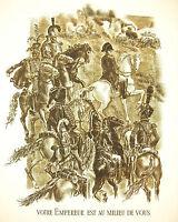 Napoleon Bonaparte Strasbourg Speeches of 29 Sept 1805 per a Decaris 1952 52cm