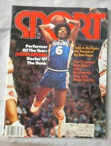 Julius Erving Philadelphia 76ers February 1977 SPORT Magazine DR J
