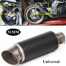 51MM Mtorcycle Glossy Carbon Fiber Modified Scooter Exhaust Pipe Muffler Tip