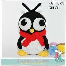 CROCHET PATTERN Toy on CD Amigurumi Toy Pattern Penguin Christmas Winter Penguin