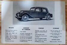 AUTOMOBILES ANCIEN LIVRET PUBLICITAIRE VOITURE  CITROEN 11 LEGERE TRACTION 1947