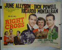 Vintage Half Sheet Movie Poster for Right Cross - A, 1950, Ricardo Montalban