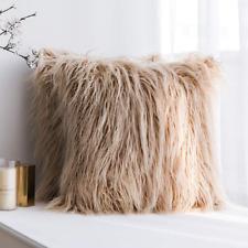 Home Decor Faux Fur Cushion Cover Pillowcase Furry Pillow Cushion Cover UK