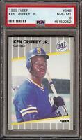 1989 Fleer #548 Ken Griffey Jr Rookie RC Seattle Mariners HOF PSA 8 NM-MT 2252