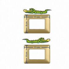 Adesivi decoro interruttori coccodrilli  light switch stickers crocodriles 2 pz