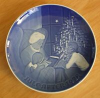"Bing & Grondahl of DENMARK  JULE-AFTEN 1978 Christmas Plate ""A Christmas Tale"""