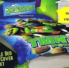 TMNT Teenage Mutant Ninja Turtle Power - Double/Full Bed Quilt Doona Duvet Cover