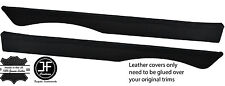 BLACK STITCHING 2X TOP REAR DOOR CAPPINGS LEATHER COVERS FITS MG MGB GT CLASSIC