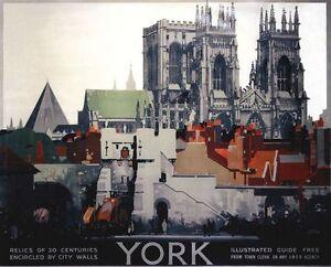 Vintage LNER York Minster Railway Poster A3 / A2  Reprint