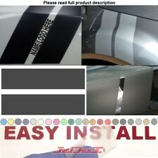 "Hash Mark Double Stripe Fender Le Mans decal sticker your text 24"" Fit small car"