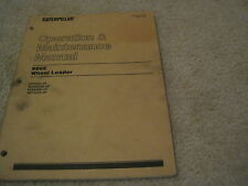 Caterpillar 966E Wheel Loader Operation & Maintenance Manual *Good* Cat Loader