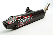 HONDA CRF 250R 2010 ROCKET EXHAUST - SLIPON WITH BLACK ALLOY MUFFLER CARBON CAP.