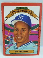 1989 Bo Jackson Diamond Kings white dot Error Card