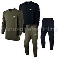 Nike Sportswear Tracksuit Set Crew Neck Fleece Sweatshirt Top Joggers Bottoms