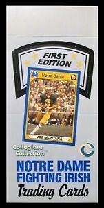 1990 Collegiate Collection Notre Dame - Empty Display Box - Joe Montana on Box