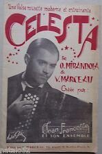 partition CELESTA musette - Mirandola Marceau Francelle  - accordéon orchestre