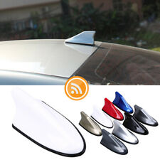 White Shark Fin Roof Antenna Aerial FM/AM Radio Signal Car Trim Universal Cover