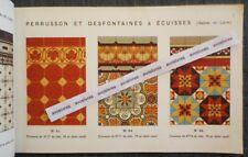 Rare PERRUSSON & DESFONTAINES CARRELAGES EN GRES CERAME Ecuisses Pavages Carreau
