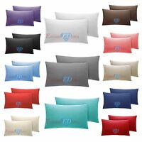 2 x Oxford / Housewife Sateen Stripe Pillow Case Covers - 300TC 100% Cotton