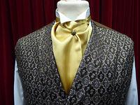 New Edwardian Victorian Style Pre Tied Cravat. Wedding. Steam Punk.  8 colours